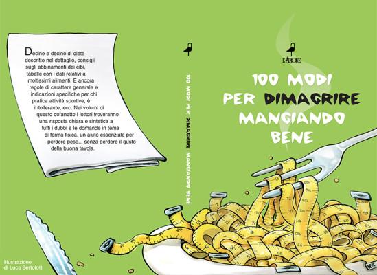 Grafica fronte-retro del cofanetto con i 3 libri sull'alimentazione realizzato per Airone Editore