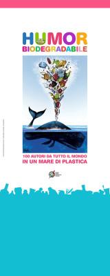 Pannello espositivo mostra Humor Biodegradabile | cm 80x200