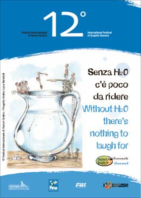 Senza H2O. Copertina catalogo | 12° Festival Internazionale di Humor Grafico | Illustrazione di Marco De Angelis | www.festivalhumorgrafico.eu