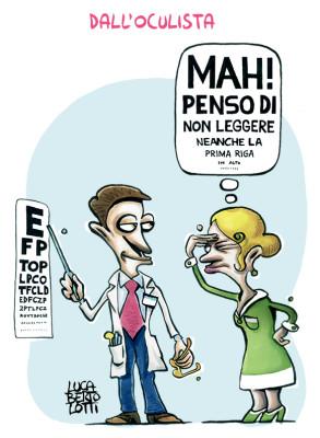 Dall'oculista - Vignette sulla salute