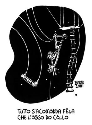 Uno dei disegni contenuti all'interno del libro dei proverbi genovesi sulla salute Pe stâ ben A cura di Francesco Berti Riboli e Mario Bottaro. Edito da Red@zione.