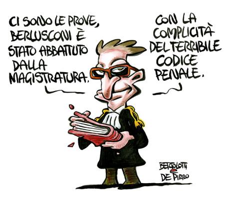 Berlusconi abbattuto dalla  magistratura
