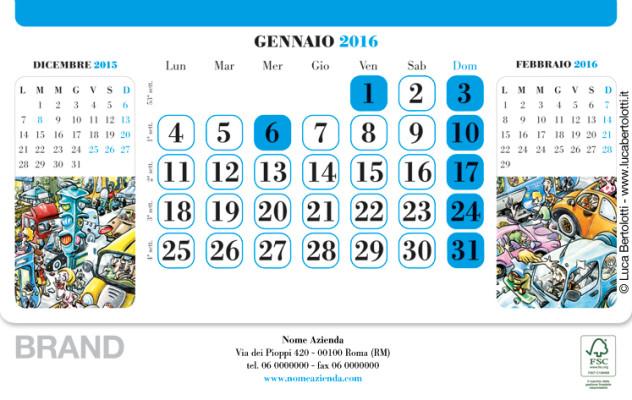 Calendario da tavolo |cm 21x34 | Interno mese