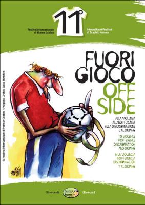 Catalogo Fuori gioco | 11° Festival Internazionale di Humor Grafico<br>Illustrazione di Boligan