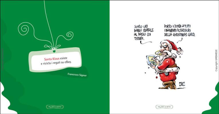 Esempio di pagina battuta e vignetta | La battuta è di Francesco signor, la vignetta di Bertolotti e De Pirro.