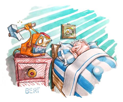 È ora di alzarsi! | Illustrazione realizzata Erasmo - Quotidiano per ragazzi