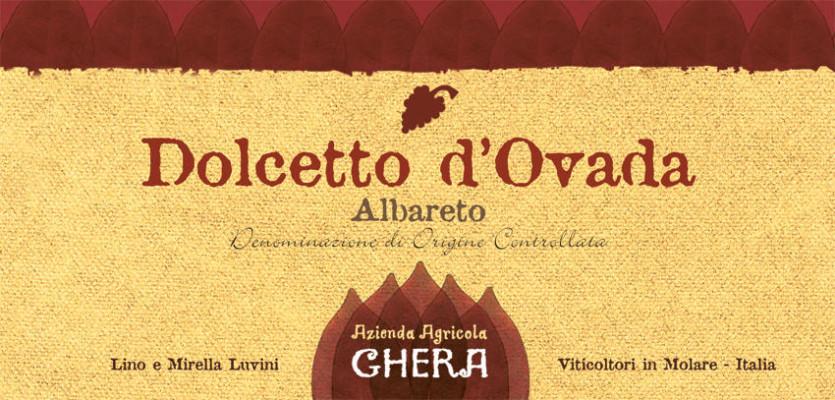 Etichetta Dolcetto d'Ovada | Realizzata per l'Azienda vinicola Ghera