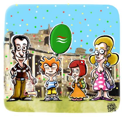 Festa Filca a Villa Adriana - Disegno per brocure