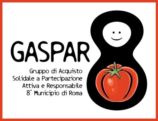 Logo realizzato per l'Associazione di Promozione Sociale GAS.P.A.R.8 - Gruppo di Acquisto Solidale a Partecipazione Attiva e Responsabile dell'8° Municipio di Roma.