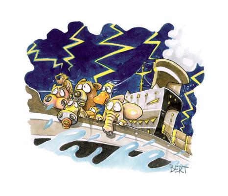 Paura sui mari - Copertina disegnata per Erasmo - Quotidiano per bambini