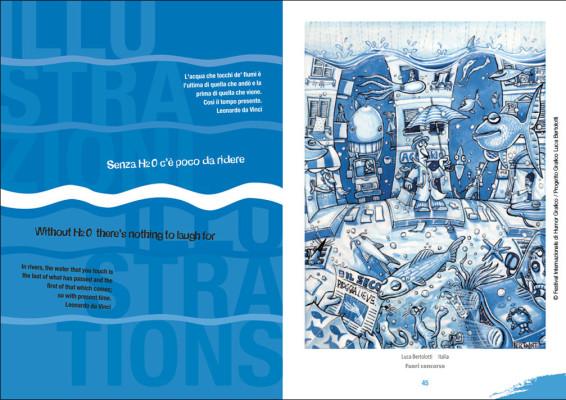Senza H2O. Interno catalogo | Festival Internazionale di Humor Grafico <br>Illustrazione di Luca Bertolotti