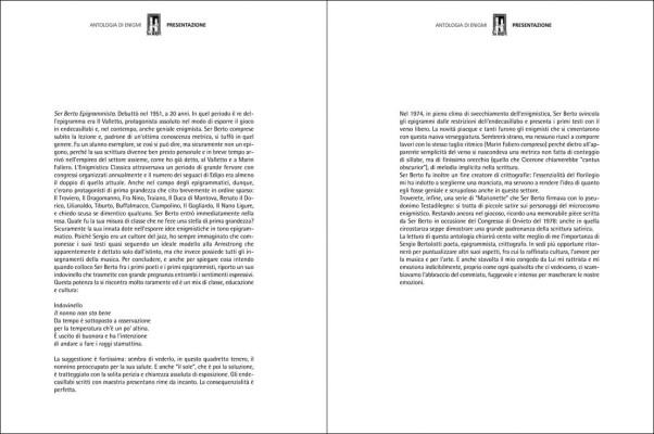 Ser Berto enigmista (2 di 2) | Presentazione di Guido Iazzetta redattore della Settimana Enigmistica e direttore della rivista di enigmistica classica La Sibilla.