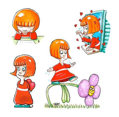 Siby - Personaggio realizzato per Erasmo - Quotidiano per bambini