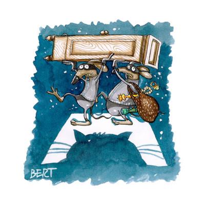 Topi d'appartamento - Copertina disegnata per Erasmo - Quotidiano per bambini
