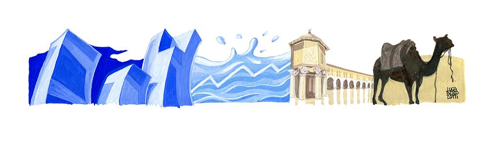 Illustrazione banner mercato turismo
