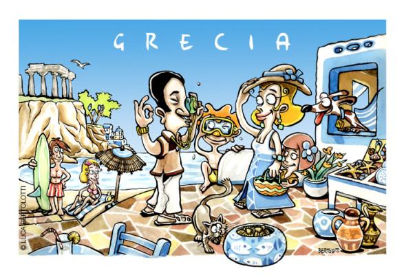 Copertina depliant - Viaggio in Grecia