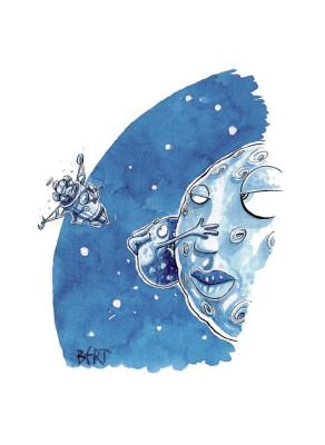 Visite da un altro pianeta - Illustrazione per Erasmo - Quotidiano per bambini